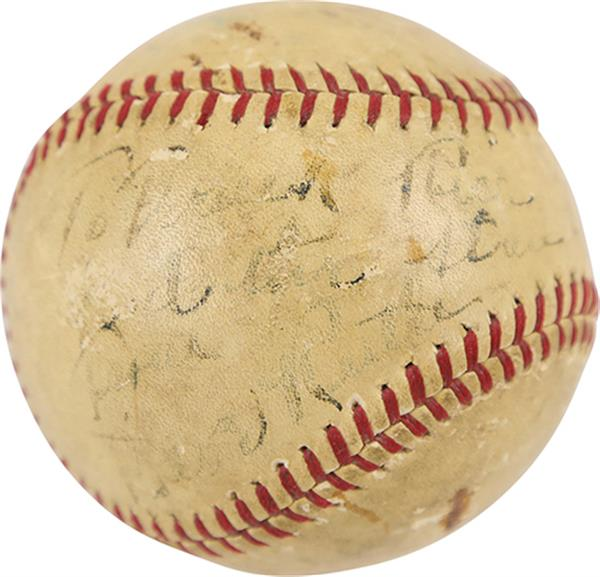 Early Babe Ruth Signed Barnstorming Baseball Up for Sale