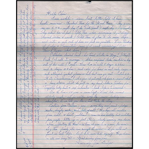 Whitey Bulger Handwritten Letter from Prison Goes on Sale