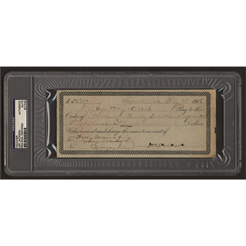Rare Joe Jackson Signature Up for Auction