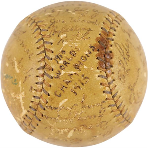 1915 Ruth as a Red Sox Player Signed Baseball Up for Sale