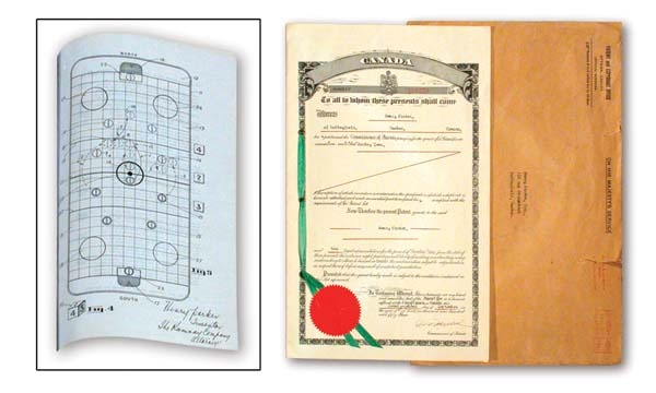 1953 Table Hockey Game Patent and Blueprints