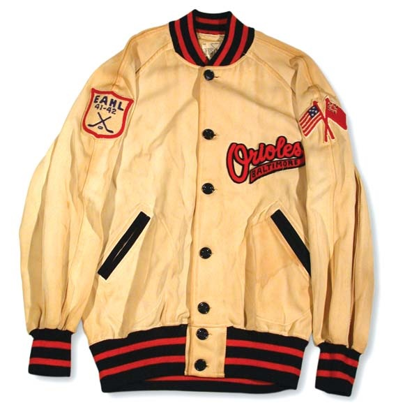 1941-42 EHL Baltimore Orioles Hockey Club Jacket