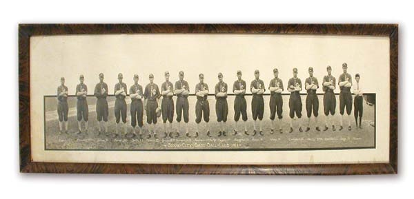 1912 Sioux City Base Ball Club Panoramic Photograph (12x37