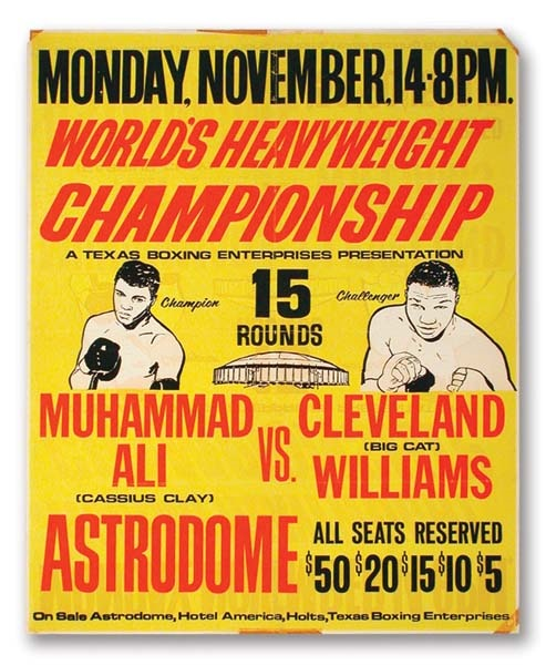 1966 Muhammad Ali-Cleveland Williams Fight Poster