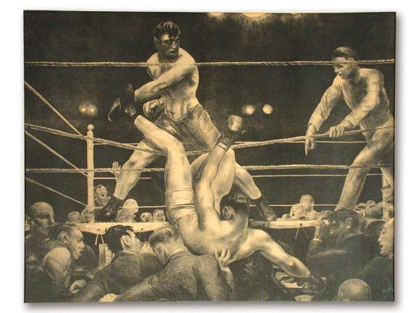 Dempsey and Firpo Lithograph by George Bellows (1923-24)