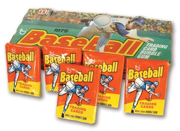 1975 Topps Baseball Mini Wax Box