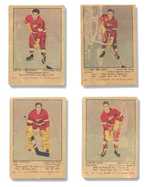 1951/52 Parkhurst Lot (15) With Howe And Sawchuk