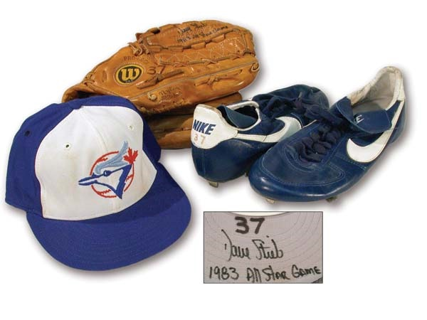 1983 Dave Stieb All-Star Game Worn Glove, Cap & Spikes