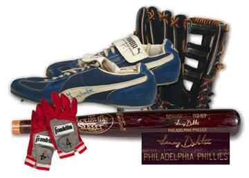 1985 Lenny Dykstra Game Worn Rookie Glove, with Game Used Bat (33