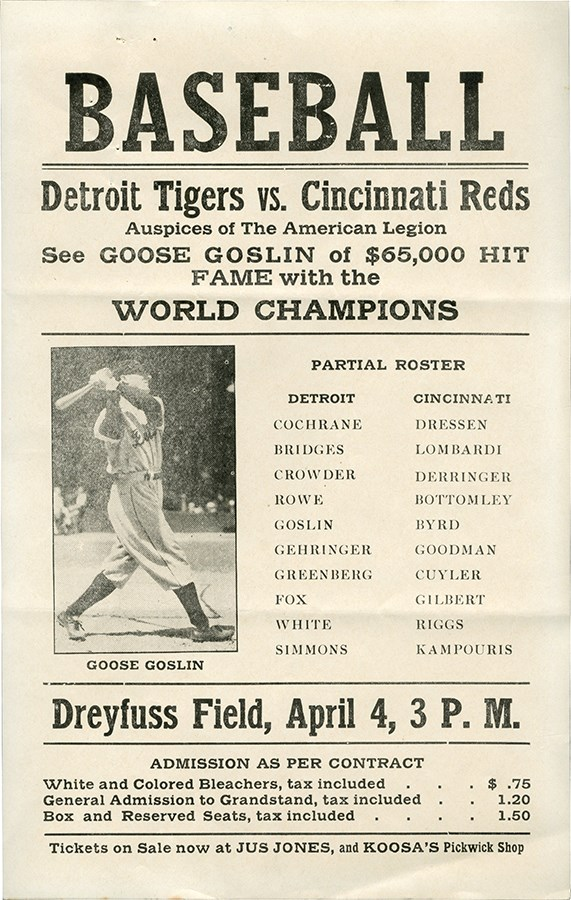 Ty Cobb and Detroit Tigers - Spring Classic 2021