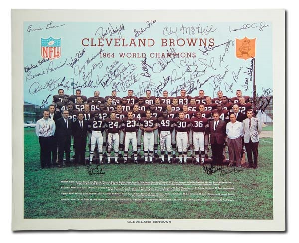 1964 NFL Champion Cleveland Browns Signed Team Photo