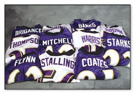 1999-2000 Baltimore Ravens Game Worn Jerseys (11)