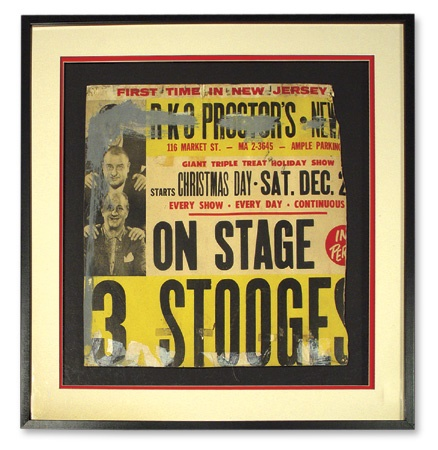 "The Three Stooges Framed Concert Poster (28x28"")"