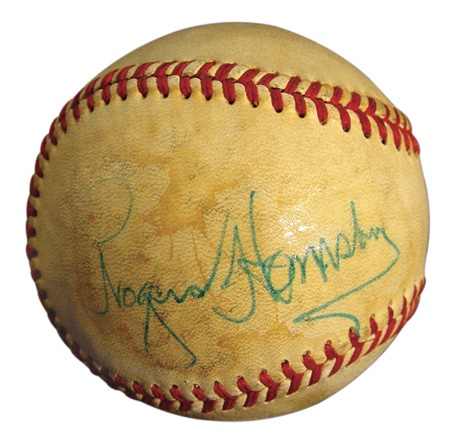 Rogers Hornsby Single Signed Baseball