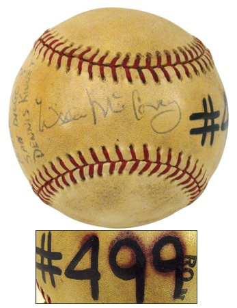 Game Used Baseballs - December 2002