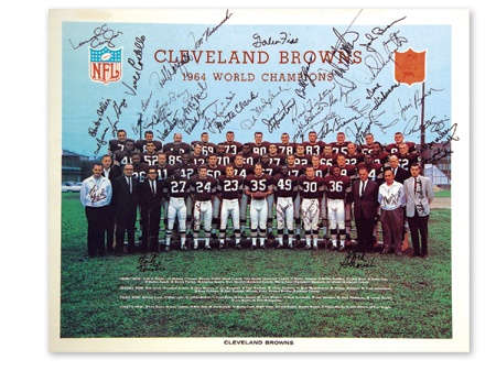 "1964 Cleveland Browns Team Signed Photo (18x22"")"