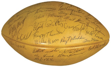 1962 Green Bay Packers Autographed Football