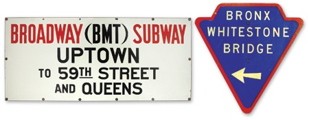 1950's-60's New York City Street Signs (2)