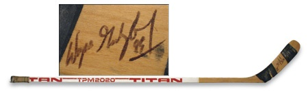 1984-85 Wayne Gretzky Game Used Autographed Titan Stick