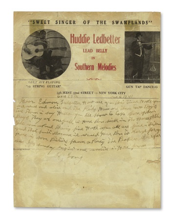 "Huddie ""LeadBelly"" Ledbetter Letters"