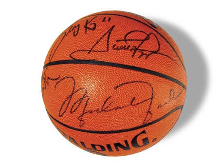 1998 Chicago Bulls Three-Peat Team Signed Basketball
