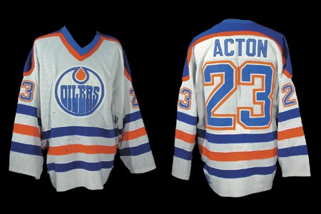 1987-88 Keith Acton Edmonton Oilers Game Worn Jersey