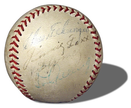 1936 AL All-Star Team Signed Baseball with Lou Gehrig