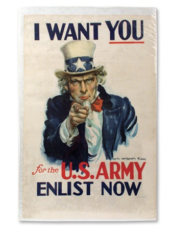"""I Want You"" WWII Army Poster (26x40"")"