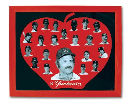 "1979 New York Yankees Presentational Glass Display (18x22"")"
