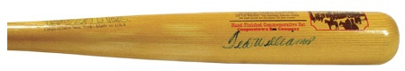 "Ted Williams Autographed Fenway Park Cooperstown Bat (34"")"