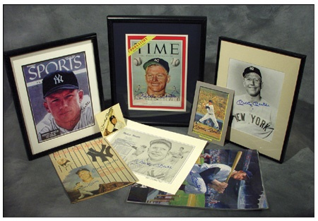 Mickey Mantle Signed Collection (15)