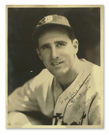 Hank Greenberg Autographed Photograph by Burke