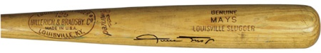 "1965-68 Willie Mays Autographed Game Used Bat (34.5"")"