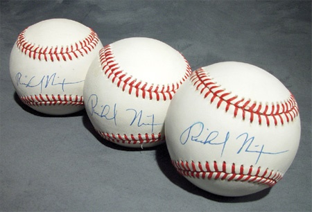 Single Signed Baseballs - December 2002