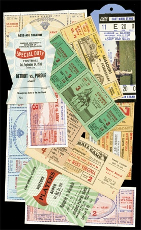1930's-50's Pro/College Football Tickets & Assorted Passes (73)