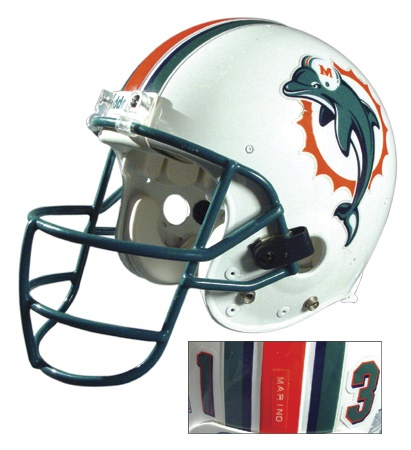 1998-99 Dan Marino Game Worn Helmet