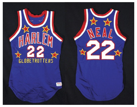 "1970's Fred ""Curly"" Neal Harlem Globetrotters Game Worn Jersey"