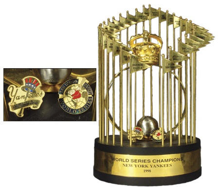 1998 New York Yankees World Series Trophy