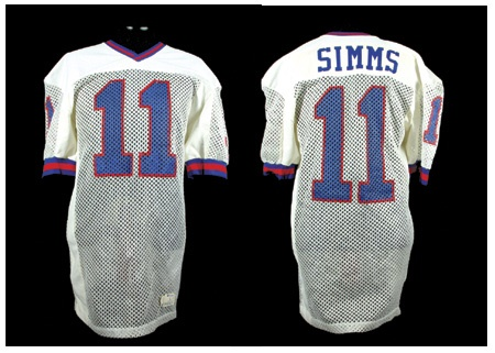 1984-85 Phil Simms Game Worn New York Giants Jersey