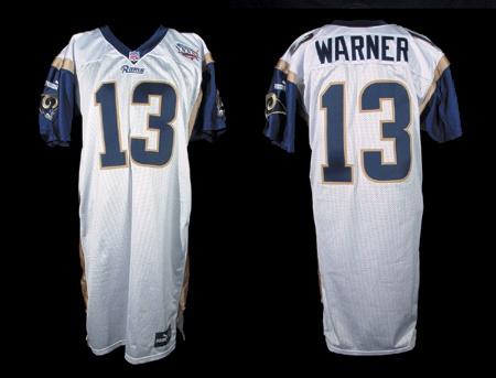 newest bd2c6 8ea8f 2002 Kurt Warner Pre-Game Worn Super Bowl Jersey