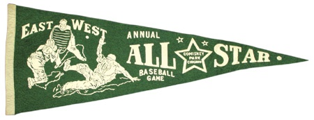 1940's East/West Negro League Pennant