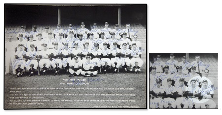 1961 New York Yankees Team Signed Photo