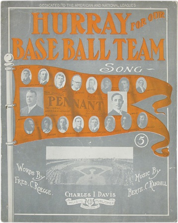 "1909 ""Hurray For Our Baseball Team"" Sheet Music"