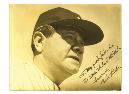 "Exceptional Babe Ruth Autographed Photo (7.25x9.5"")"