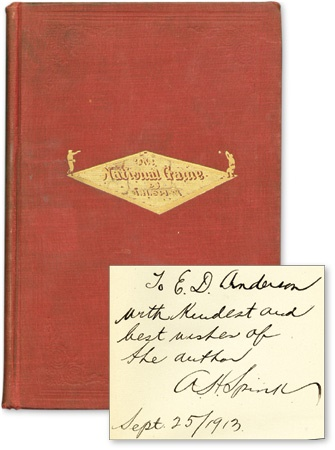 1910 The National Game Book Inscribed & Signed by Spink