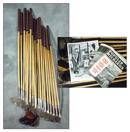 1964 Arnold Palmer Used Golf Clubs (20) with 25 Reprints of Popular Mechanics Magazine