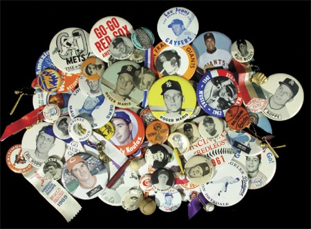 Great Baseball Button Collection (64)
