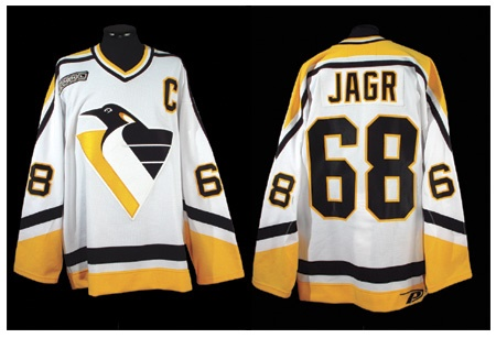 1999-00 Jaromir Jagr Pittsburgh Penguins Game Worn Jersey