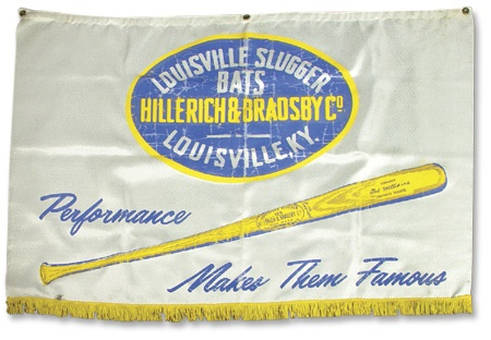 "1950's Ted Williams Hillerich & Bradsby Banner (30x44"")"