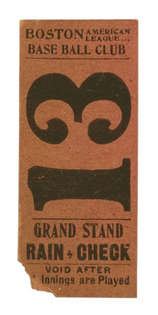1903 World Champion Boston Red Sox Ticket